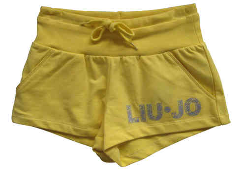 Liu Jo Sweat-short in gelb mit Druck