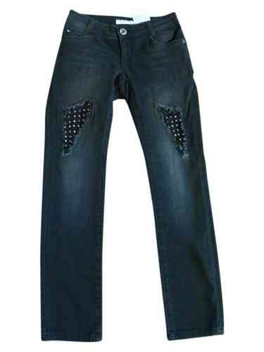 Liu Jo Jeans destroyed in black denim mit Nieten