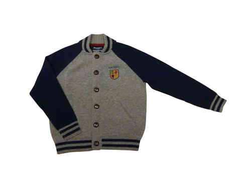 Hackett London Boys College Strickjacke in grau/blau